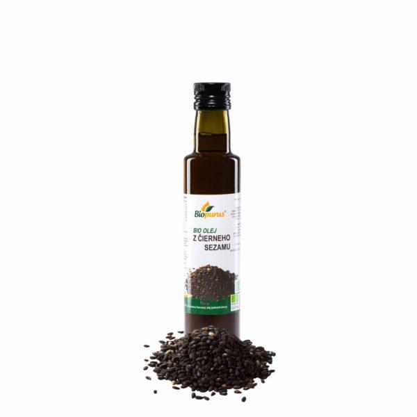 Olej z čierneho sézamu BIO 250 ml Biopurus