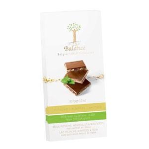 Čokoláda Balance mliečna pistácie mandle DIA 85g