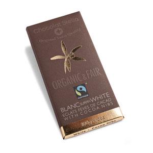 Čokoláda biela s kakaovými bôbmi BIO 100g