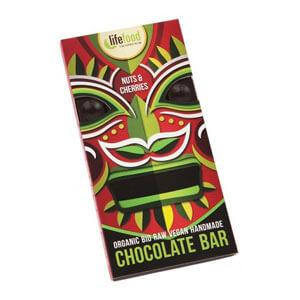 Čokoláda horká orechy čerešňa BIO RAW 70g