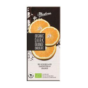 Čokoláda horká s chrumkavými pomarančovými granulami 52% BIO 100g
