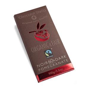Čokoláda horká s granátovým jablkom BIO 100g