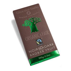 Čokoláda horká s plodmi baobabu BIO 100g