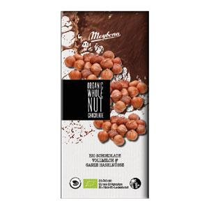 Čokoláda mliečna s celými lieskovými orechmi BIO 100g