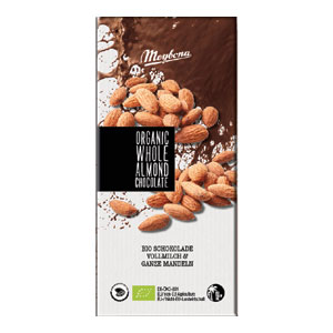 Čokoláda mliečna s celými mandľami BIO 100g