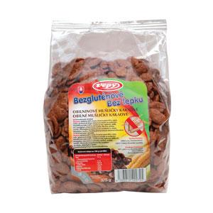 Mušličky obilninové kakaové bezgluténové 375g