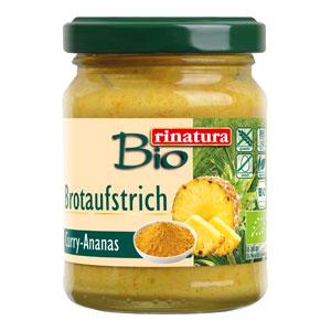 Nátierka kari ananás bezgluténová BIO 115g