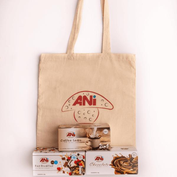 Balíček zdravia - raňajky, čokoláda, káva + plátená taška